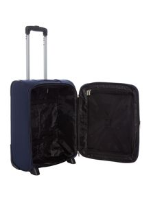 Linea Dartmouth navy 2 wheel soft cabin suitcase