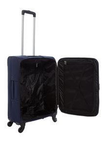 Linea Dartmouth navy 4 wheel soft medium suitcase
