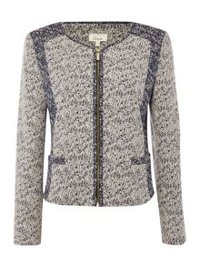 Linea Contrast tweed mix jacket