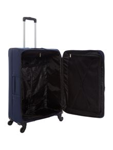 Linea Dartmouth navy 4 wheel soft large suitcase
