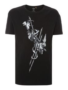 Eros arrow oversize printed t shirt