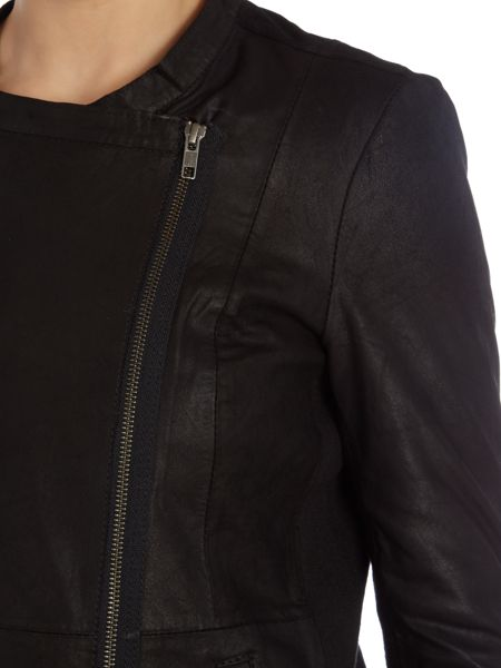 Y.A.S. Relaxed leather jacket