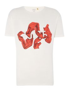 Tee Library The silk route - scarf oversize printed t shirt
