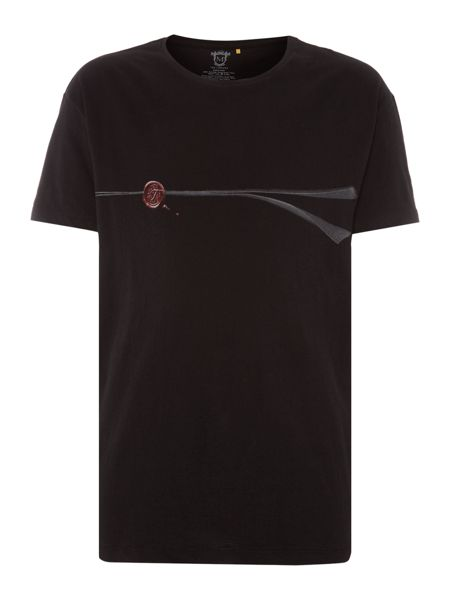 Tee Library Do not open - seal oversize printed t shirt