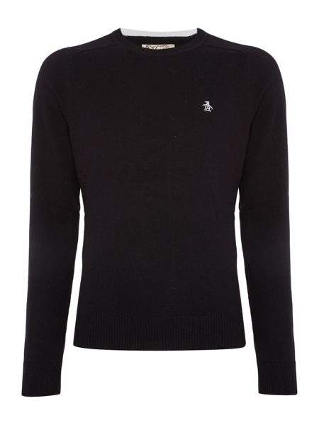 Original Penguin Plain Crew Neck Pull Over Jumpers