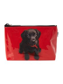 Red medium labrador cosmetic bag