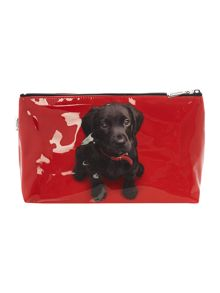 Red large labrador wash bag