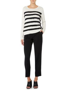 Max Mara Abramo stripe textured jumper