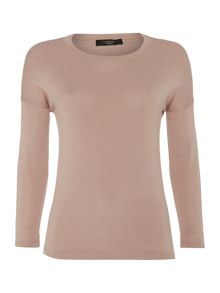 Max Mara Prussia round neck knitted silk mix jumper