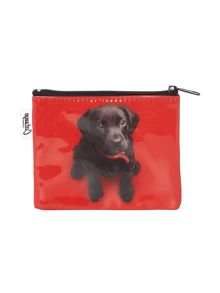 Red small lab coin purse