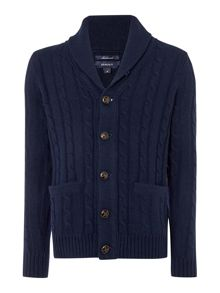Gant Shawl Neck Cable Cardigan