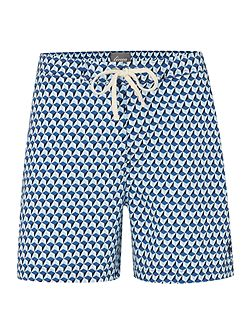 Triangle Print Swim Shorts