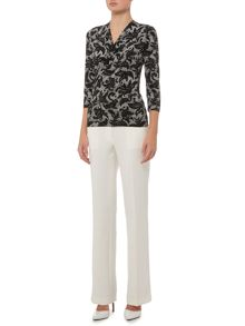 Ellen Tracy Three quarter sleeve top