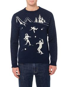 Gant Snowball Lambswool Christmas Jumper