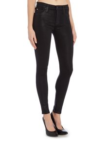 Hudson Jeans Nico super skinny jean in black wax