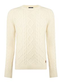 Chunky Cable Crew Neck Jumper