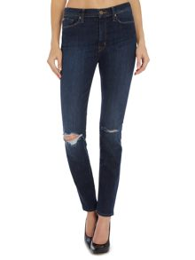 Hudson Jeans Barbara high rise super skinny jean in convoy