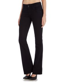 Signature bootcut jean in black