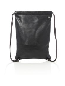 Replay Leather Drawstring Bag