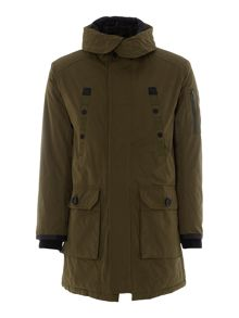 Cotton/Polyester Parka Coat