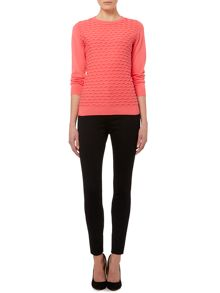 Pied a Terre Textured Front Jumper