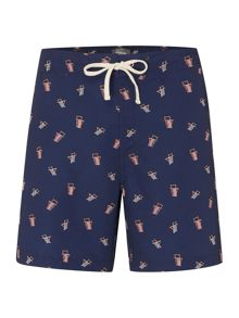 Linea Deck Chair Print Swim Shorts