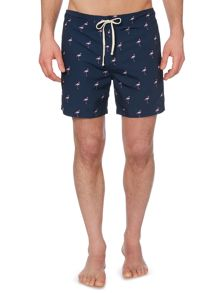 Linea Conversational Flamingo Print Swim Shorts