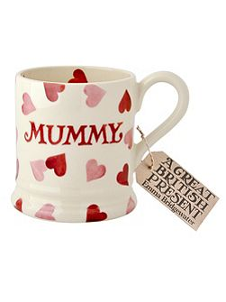 Pink Hearts Mummy 1/2 Pint Mug