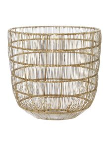 Living by Christiane Lemieux Gold Wire Storage Basket