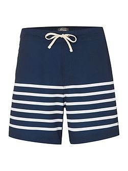 Engineered Stripe Swim Shorts