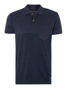 Textured Short Sleeve Polo
