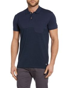 Jack & Jones Textured Short-Sleeve Polo Shirt