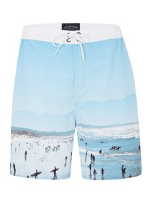 Criminal Photogrpahic Print Swim Shorts