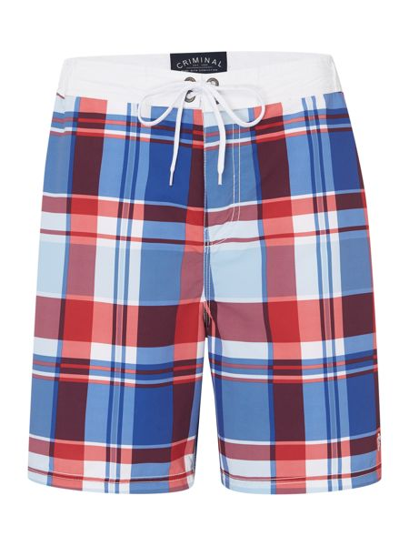 Criminal Check Swim Shorts