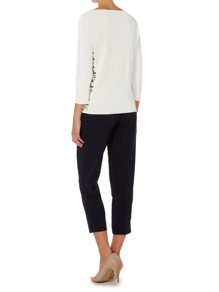 Max Mara Bergen sweater with lace panel detail