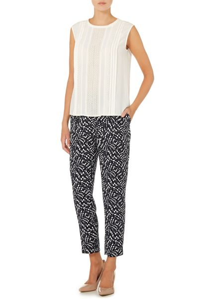 Max Mara Cinque printed tapered trousers