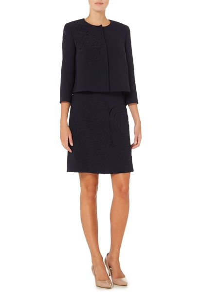 Max Mara Agito a line skirt with embroidered floral detail
