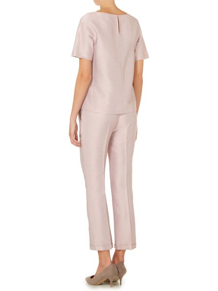Max Mara Madia turn up jacquard trouser