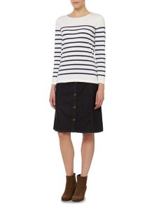 Dickins & Jones Boat Neck Breton Stripe Top