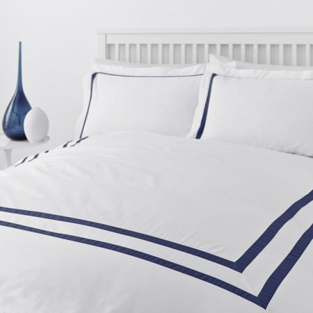 Luxury Hotel Collection Graphic edge 400 thread count duvet cover set