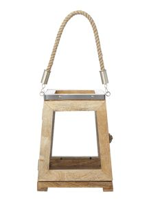 Linea Wooden Lantern, small