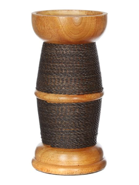 Linea Wood & Wire Pillar candle large