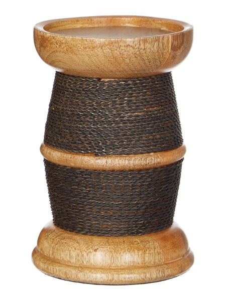 Linea Wood & Wire Pillar candle small