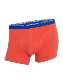 Bjorn Borg 3 pack of solid colour contrast waistband trunks