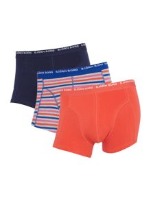 Bjorn Borg 3 pack of stripe and solid colour trunks