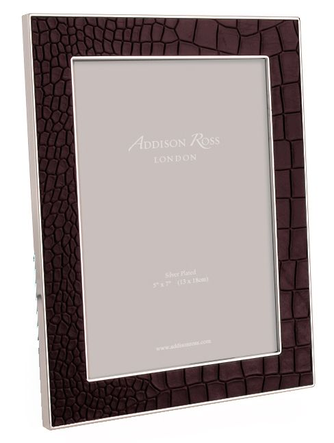 Image of Addison Ross 5x7 faux croc choc frame