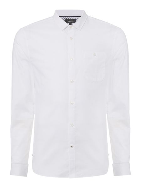 Linea Burke White Double Oxford Long Sleeve Shirt