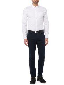 Burke White Double Oxford Long Sleeve Shirt