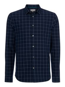 Linea Chapman Long Sleeve Navy Window Pane Shirt