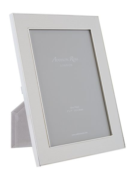 Addison Ross 5x7 faux shagreen frame white